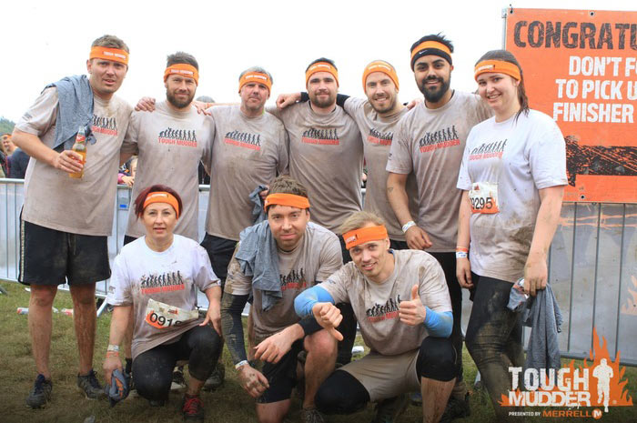 AMD staff get muddy for money